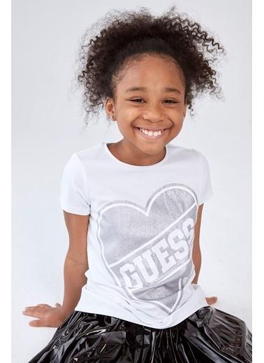 Guess Kız Çocuk Beyaz T-Shirt Beyaz